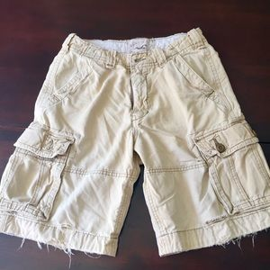 Hollister distressed cargo shorts